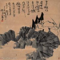【打印级】GH6088773古画山水风景荷花立轴图片-42M-3468X4244