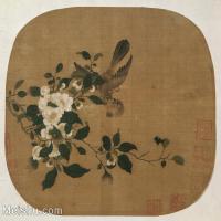 【打印级】GH6080252古画花卉鲜花鸟佚名 斗雀图-小品图片-10M-2800X2465