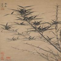 【超顶级】GH6085346古画树木植物-新篁图-元-顾安-纸本-30x82.5-110x302-墨竹子立轴图片-735M-9671X26565_7611460