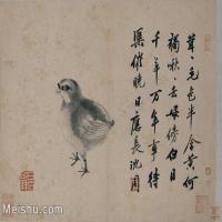 【印刷级】GH6080142古画动物沈周雏鸡图页小品图片-69M-5801X4214