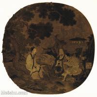 【印刷级】GH6156058古画宋人册页 人物小品图片-43M-3954X3881