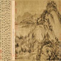 【印刷级】GH7280038古画山水风景富春山居图剩山卷镜片图片-175M-9813X4635