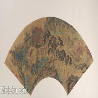 【欣赏级】GH6070373古画山水风景扇面图片-6M-2000X1051
