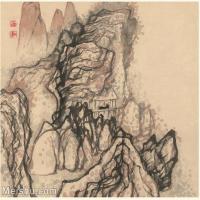 【印刷级】GH6060119古画石涛设色山水风景册页图片-52M-3977X3425_56935107