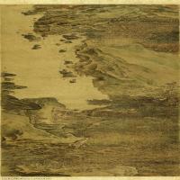 【印刷级】GH7280094古画山水风景宋 秋林观泉图卷 绢本×镜片图片-113M-13659X2906_1473788