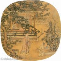 【印刷级】GH6151019古画册页人物元·刘贯道《人物故事图册 林和靖灌梅图》(私人藏)图片-20M-2586X2800_7659415