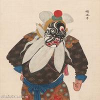 【印刷级】GH6061478古画脸谱(9)-人物-顺风耳册页图片-38M-3281X4142