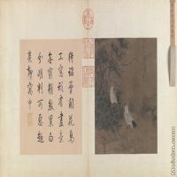 【印刷级】GH6080140古画动物明鲁宗贵 玲峰鹁鸽图页-小品图片-166M-10270X5662