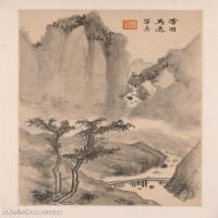 【印刷级】GH6040288古画立轴仿古山水山水风景图片-11M-2364X3586