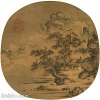 【印刷级】GH6081353古画山水风景-宋代山水小品树林木河流-小品图片-41M-3384X3288_2064938