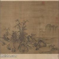 【超顶级】GH7280176古画山水风景郭熙窠石平远图卷镜片图片-980M-20761X16511