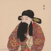 【印刷级】GH6061447古画脸谱(29)-人物-李广册页图片-39M-3303X4147