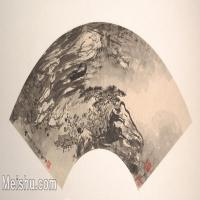 【欣赏级】GH6070382古画山水风景扇面图片-5M-2000X1016