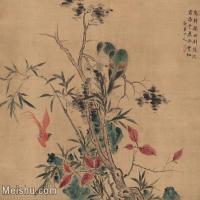 【打印级】GH7280224古画花鸟疏树归林图镜片图片-47M-3774X3307