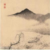 【印刷级】GH6060117古画石涛设色山水风景册页图片-51M-3949X3395_56933906