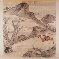 郎世宁等乾隆皇帝殪熊图轴-清朝-人物