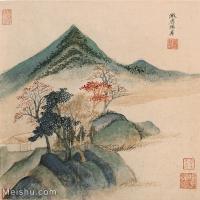 【欣赏级】GH6081082古画山水风景小品图片-23M-2414X2521