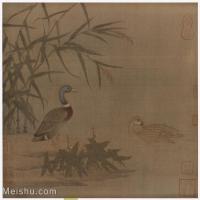 【印刷级】GH6080203古画动物-南宋野鸭戏水图-小品图片-76M-4573X4403