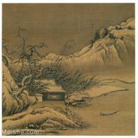 【欣赏级】GH6080940古画山水风景南宋-夏圭-雪堂客话图页小品图片-13M-2200X2088