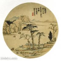 【印刷级】GH6081383古画山水风景-清代名家-小品图片-17M-2480X2436