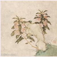 【印刷级】GH6060127古画花卉花鸟鲜花册页图片-97M-4194X4078