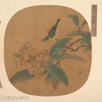 【印刷级】GH6080462古画花卉鲜花鸟南宋吴炳枇杷图小品图片-36M-3558X3537