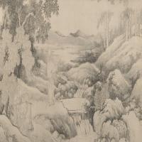 禹之鼎翁嵩年负土图卷-清朝-人物