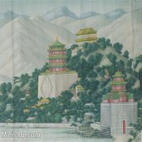 【印刷级】GH6080012古画人文建筑宫廷楼阁清 颐和园风景图轴 北京故宫 最清晰小品图片-57M-4981X4023