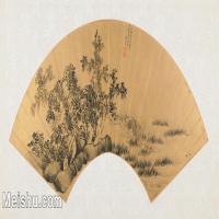 【欣赏级】GH6070394古画山水风景Wei Zhihuang扇面图片-14M-3200X1592