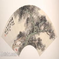 【欣赏级】GH6070222古画花卉植物树木扇面图片-5M-2000X1026