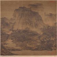 【欣賞級】GH6088553古畫山水風景北宋-李成-晴巒蕭寺圖軸-納爾遜-艾金斯藝術博物館藏立軸圖片-32M-2357X4798_1978872