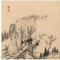 【印刷级】GH6060121古画石涛设色山水风景册页图片-53M-4023X3410_56936449