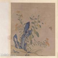 【印刷级】GH6063693古画缂丝花卉册之百合剪春罗册页图片-57M-4970X4012