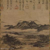 【打印级】GH6088557古画山水风景古寺春云图残片立轴图片-42M-3140X4776_15551568