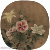 【印刷级】GH6156043古画宋人册页 花鸟花卉小品图片-40M-3877X3607
