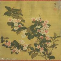 【打印级】GH6060474古画清张伟写生花卉册1册页图片-10M-1700X2057