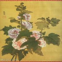 【打印级】GH6060471古画清张伟写生花卉册2册页图片-10M-1700X2069