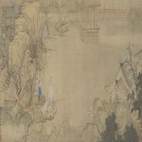 禹之鼎黄山草堂图卷-清朝-人物