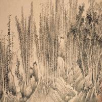 【打印级】GH7280518古画植物镜片图片-43M-5707X2353