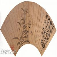 【欣赏级】GH6070233古画花卉植物树木扇面图片-9M-2779X1256