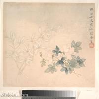 【印刷级】GH6080226古画花卉鲜花鸟小品图片-45M-4000X3941