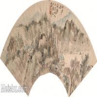 【欣赏级】GH6070269古画山水风景扇面图片-61M-3560X1624_18121575