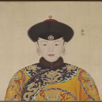 【印刷级】GH6151048古画册页人物清郎世宁高宗帝后像-嘉妃图片-6M-1338X1785_57606910