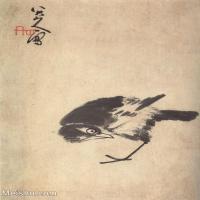 【欣赏级】GH6064789古画清朱耷八大山人-花鸟画册-(32)册页图片-3M-1000X1237