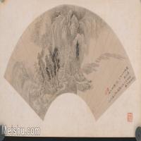 【印刷级】GH6040271古画扇面溪堂话别图图片-80M-7272X3852_18128985