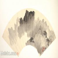 【欣赏级】GH6070381古画山水风景扇面图片-5M-2000X1044