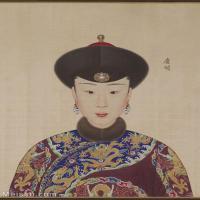 【印刷级】GH6151049古画册页人物清郎世宁高宗帝后像-庆嫔图片-6M-1300X1785_57607830