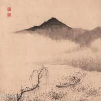 【印刷级】GH6062469古画石涛-设色山水(10)册页图片-42M-3909X3351