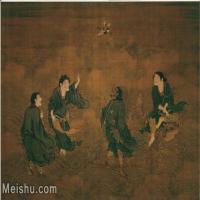 【超顶级】GH6105014古画镜片商喜-四仙拱寿图片-393M-11850X8178_19765404