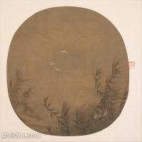 【印刷级】GH6081136古画山水风景古代江川河流风景芦苇荡白鹭小品图片-38M-3855X3491